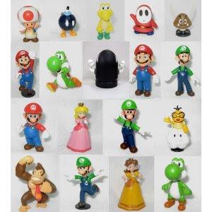 Pre-kindergarten toys - Super Mario Brothers: 2 inch Mini Figures Set of 18