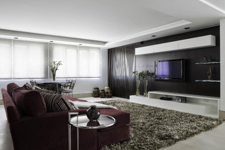 Sala De Tv Com Cinza ~ Idéias de Decoração para Sala de TV  X  Casas Apartamentos e
