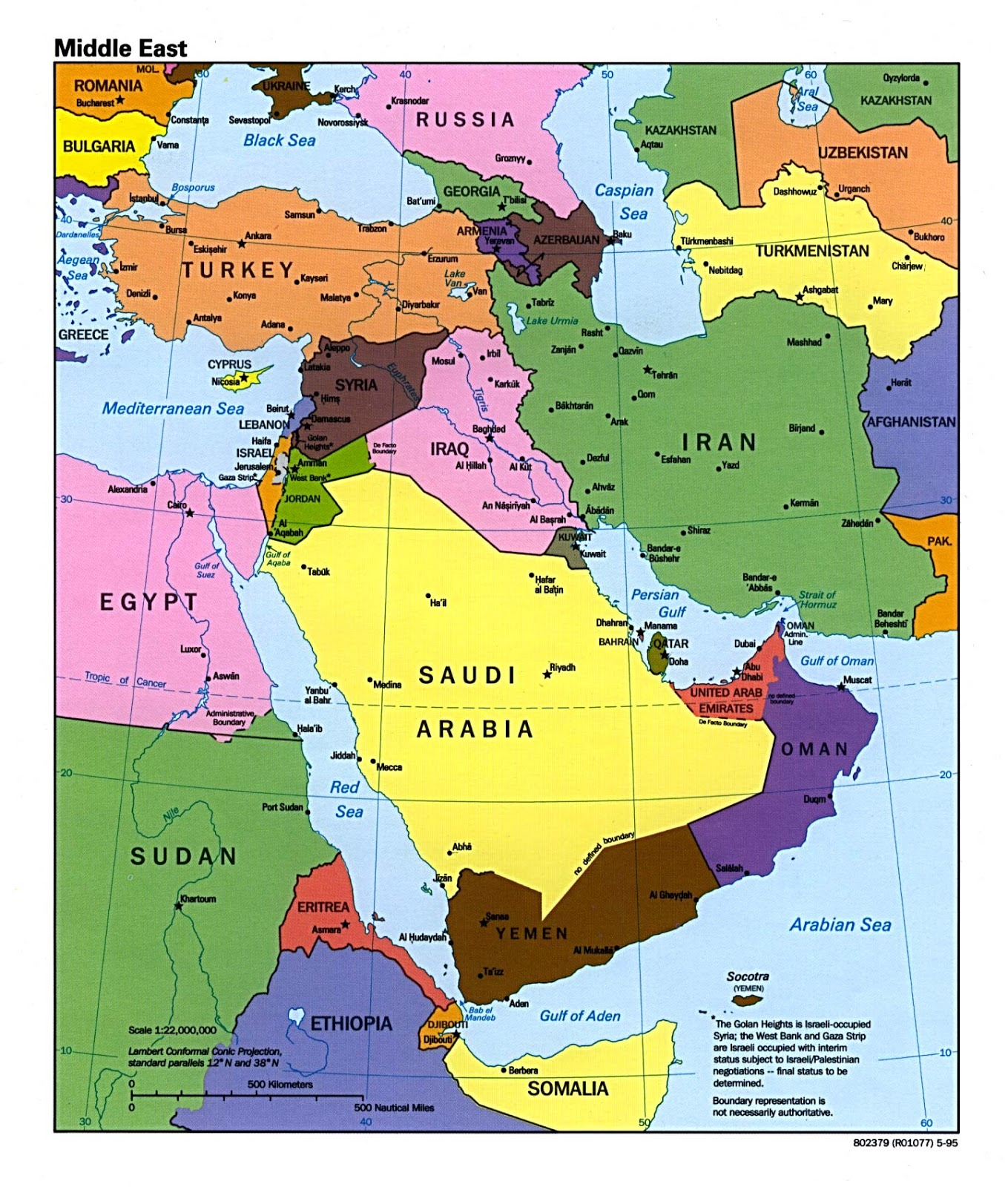 Pakistan Map Middle East