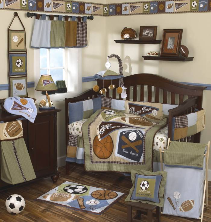 Baby Soccer Themed Room