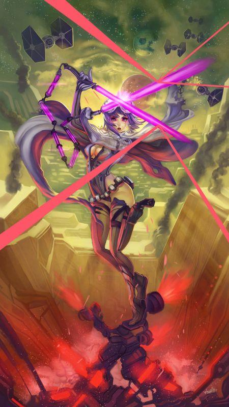 Hector Sevilla deviantart ilustrações mulheres sensuais fantasia estilo anime mangá Defesa crucial