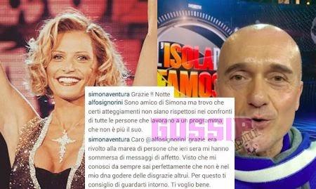 Scontro tra Simona Ventura e Alfonso Signorini