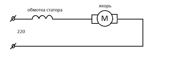 Коллекторный двигатель переменного тока 220в схема подключения фото 354