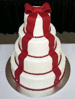 Tortas de Boda Blanco y Rojo, parte 5