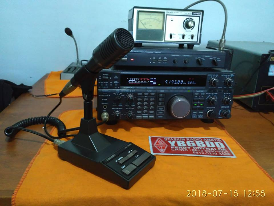 KENWOOD TS850s + DSP 100 + MC 90