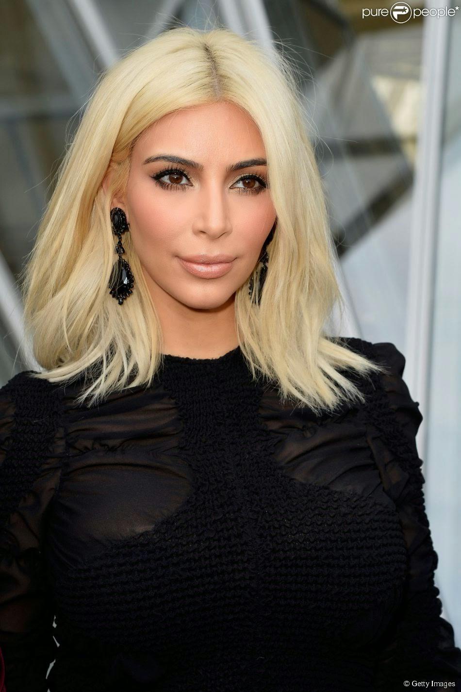 kim kardashian loira