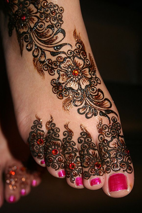Mehndi Designs Feet Arabic : Arabic bridal feet mehndi design videos bridalsgrooms