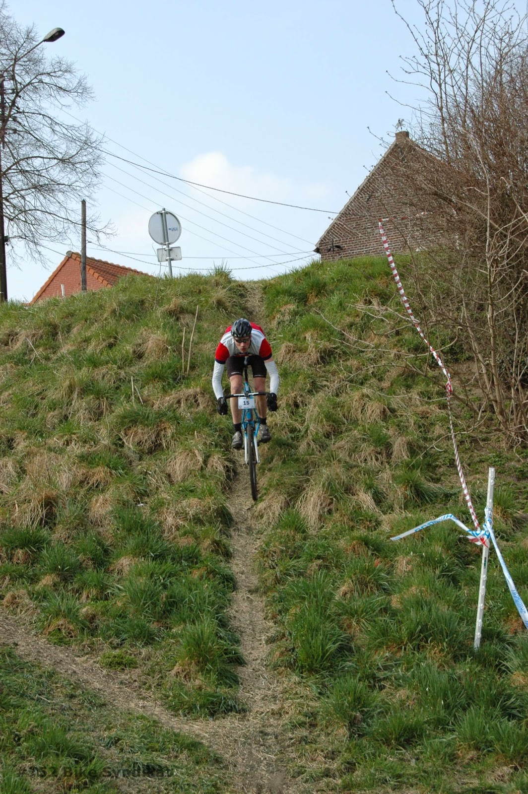 Steep downhill