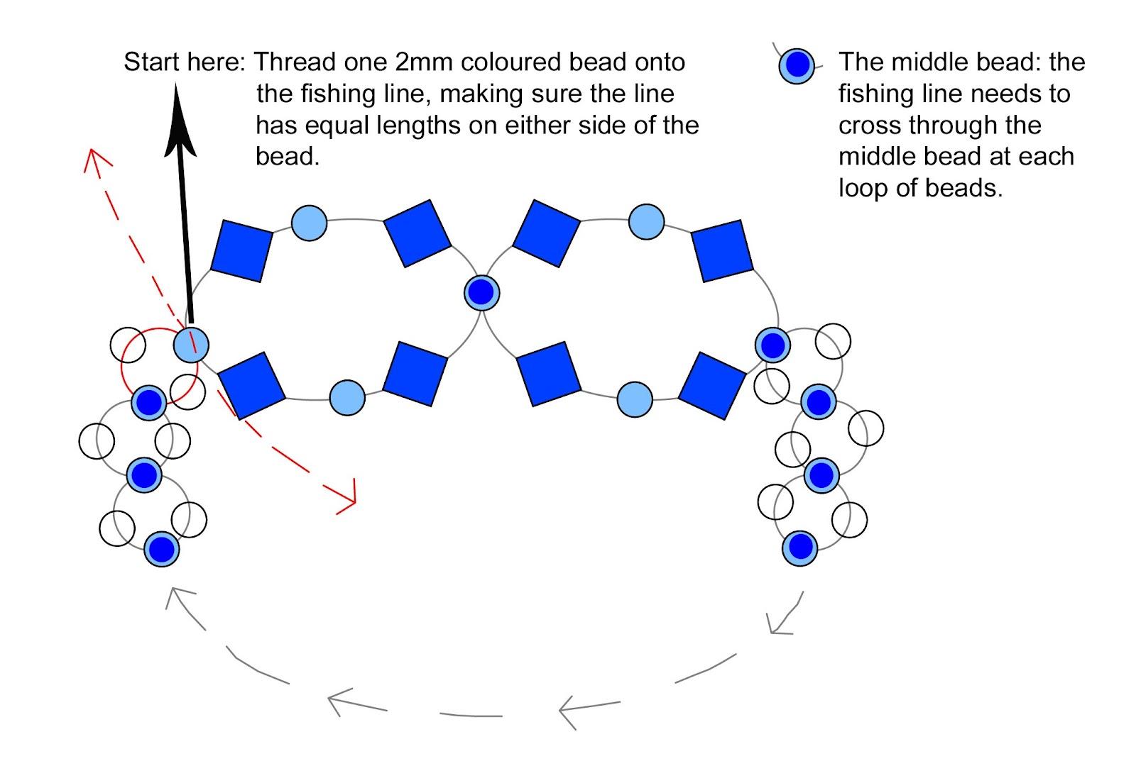 Beaded Ring Tutorial Diagram