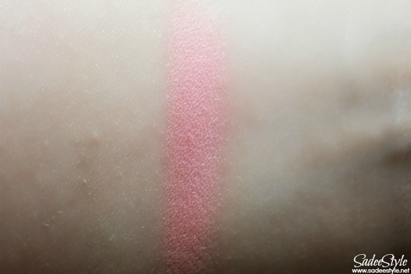 Cuty peach blush swatches