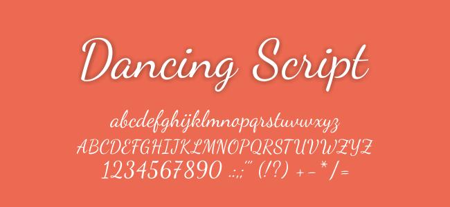 Kumpulan Font Undangan - Dancing Script Font