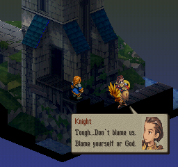 Final Fantasy Tactics Delita blame yourself or god screenshot