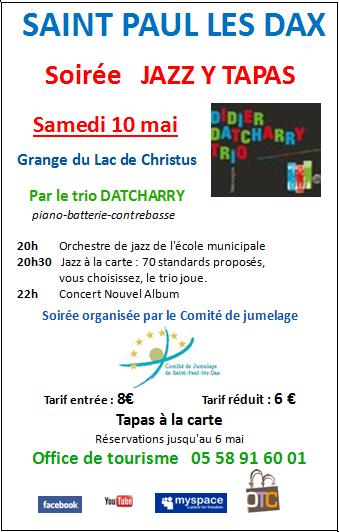 Comite de jumelage de saint paul les dax soir e jazz y - Office du tourisme saint paul les dax ...