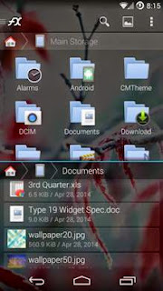 file manager fx file explorer split view