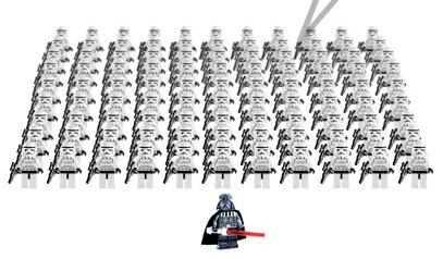 Ser igual, ser diferente, española en Bulgaria, Lego Star wars, Darth Vader, stormtroopers