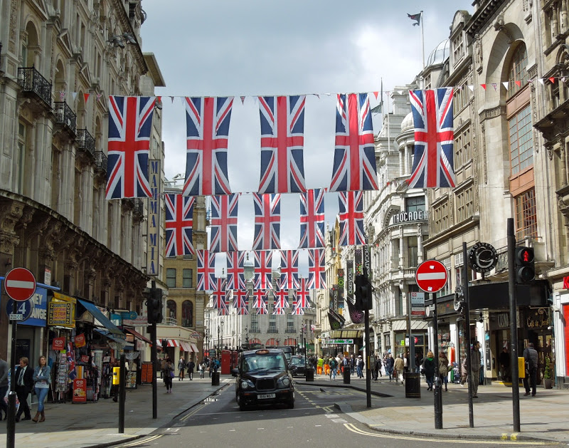 Queens Diamond Jubilee Union Jack flags London