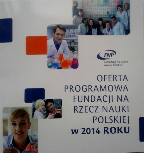 Okładka oferty programowej FNP na 2014 r.