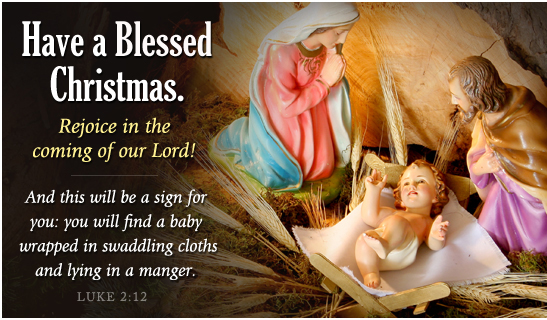blessed Personalized Religious christmas cards