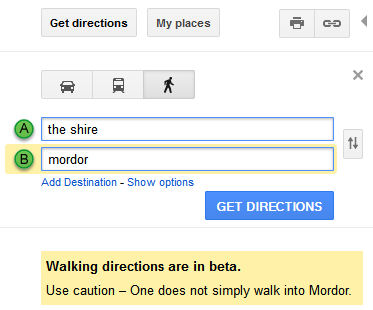 The Presurfer: Google Maps 'Lord Of The Rings' Easter Egg on