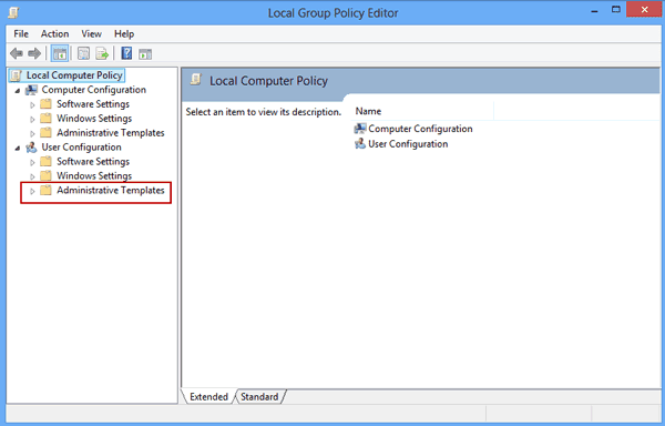 open local group policy editor