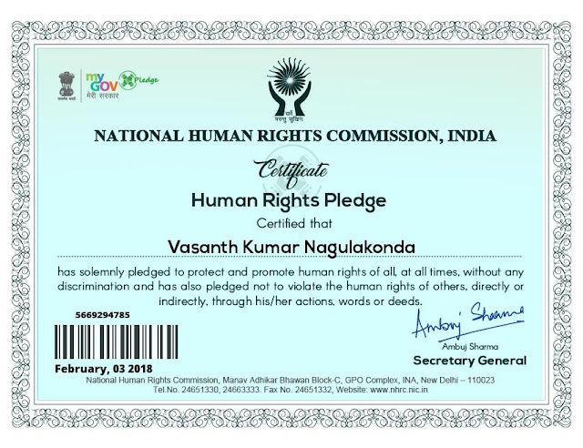 Human Rights Pledge.