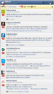 Influencer localizados mediante búsqueda filtrada por puntuación Klout en HootSuite