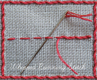 Tutorial for whipped running stitch