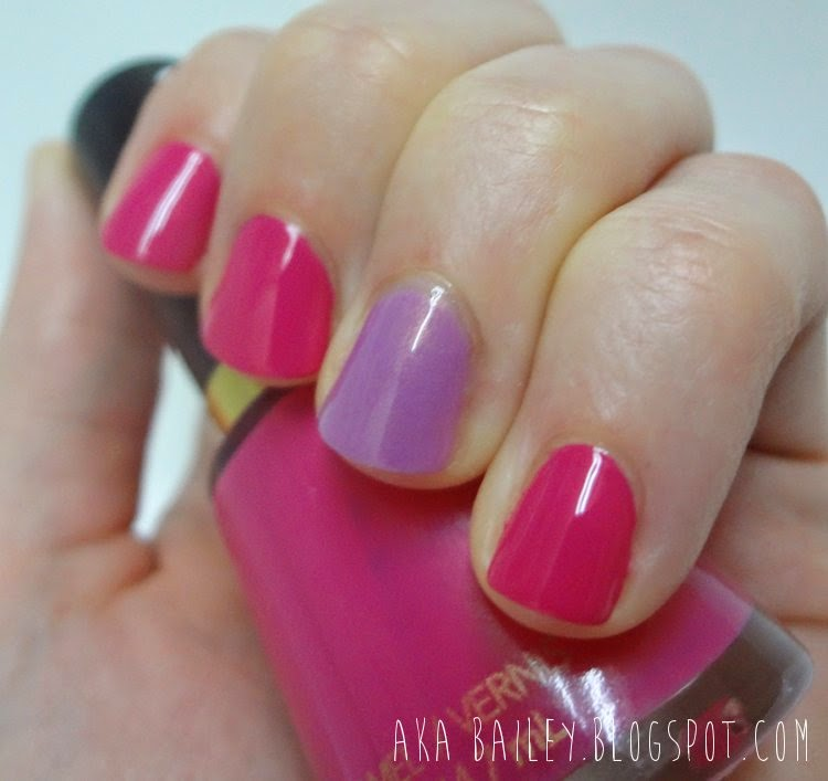Fuchsia nails with orchid accent