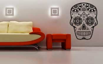 Mexican skull adhesive vinyl