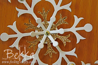Snowflake Garland by Bekka using the Snow Flurries Die from Stampin' Up!   Buy everything you need for this project from www.feeling-crafty.co.uk