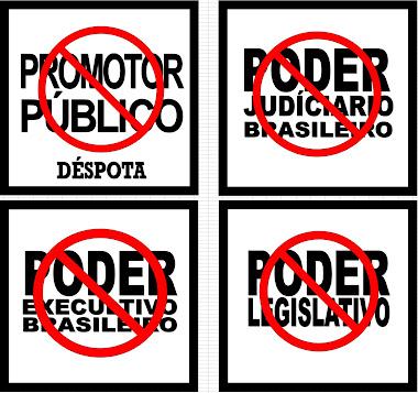SÍMBOLOS DA INEFICIÊNCIA, DA FALÊNCIA E DA INCOMPETÊNCIA DO ESTADO BRASILEIRO COM SUAS INSTITUIÇÕES