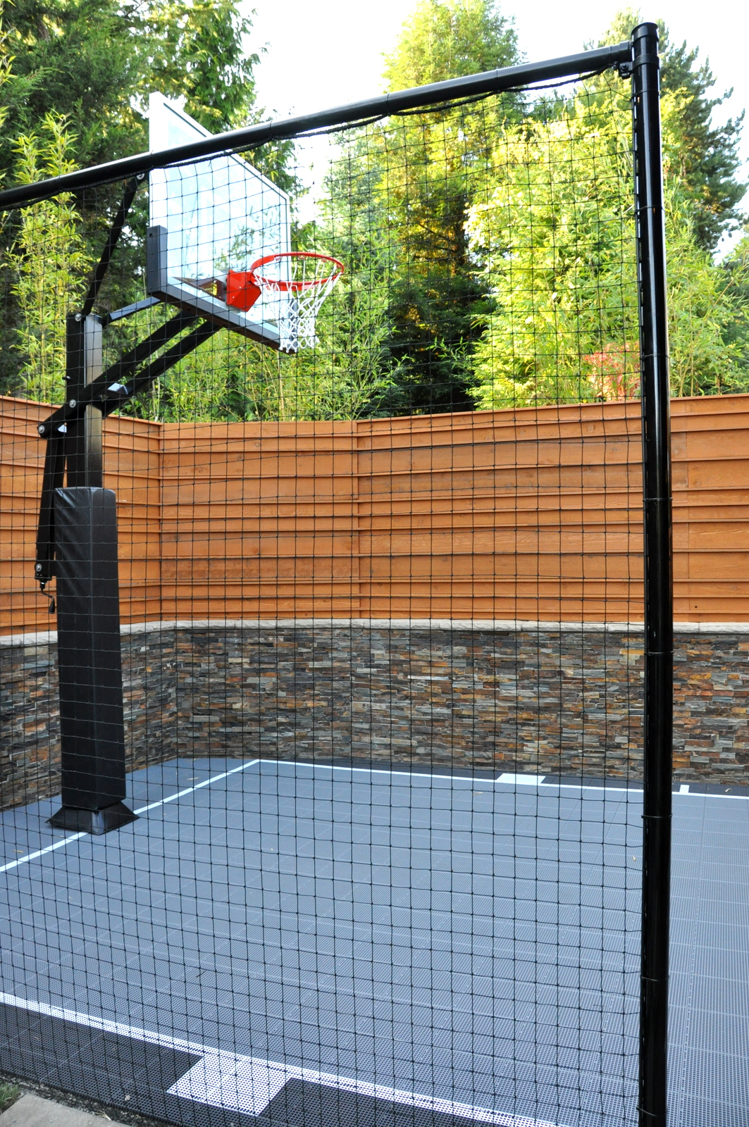 1000 images about landscape design on pinterest for Average basketball court size