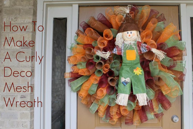 how to make a spiral deco mesh wreath
