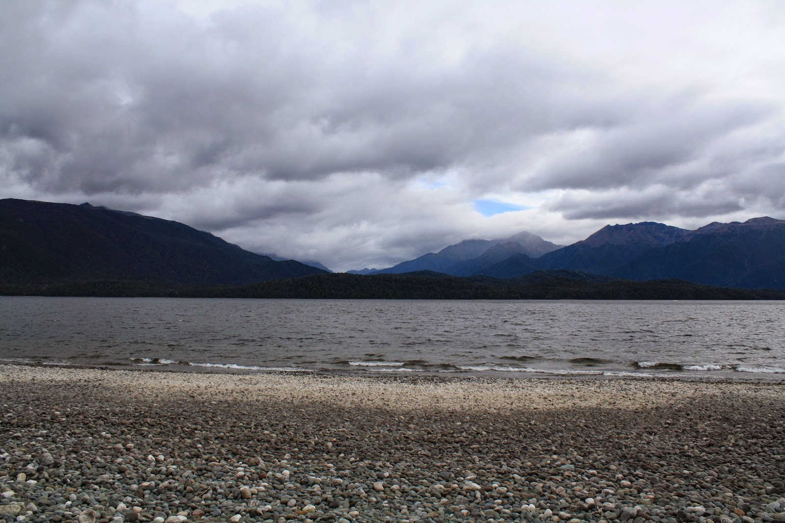 Looking over Lake Te Anau.