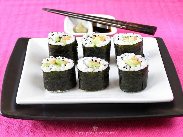 Vegan Maki Sushi Rolls