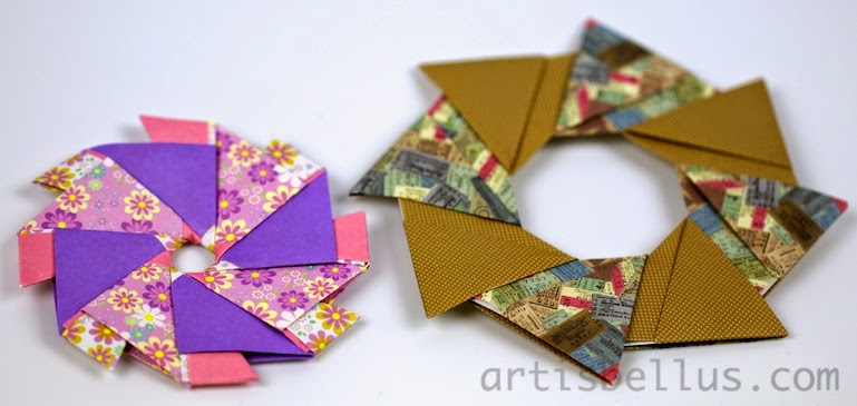 Holiday Decorations: Origami Rings and Wreaths