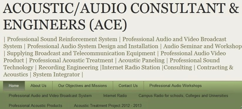 Audio Consultant and Engineer