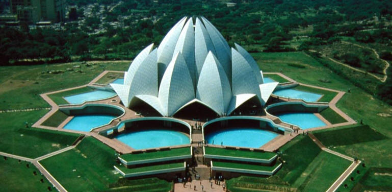 Arsitektur hari ini and future lotus temple in new delhi for The lotus temple