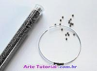 Como fazer arco de arame para brincos bijuteria