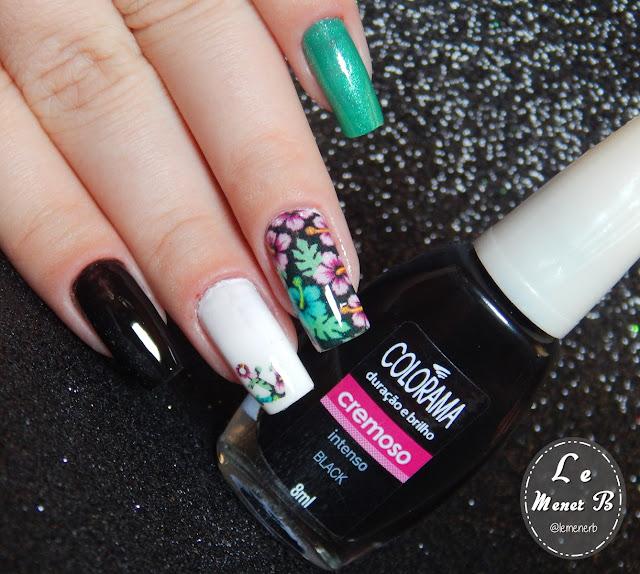 flores nail art