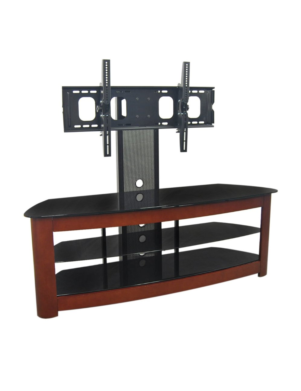 60 inch corner tv stand - Convenience Concepts Design2go Wide 3tier Wood Grain Tv Stand Black