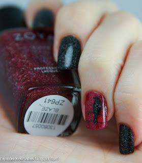 Halloween nail art  - Stamping raven Zoya Moyou