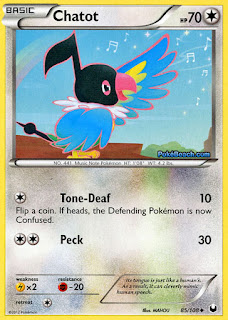 Chatot Dark Explorers Pokemon Card
