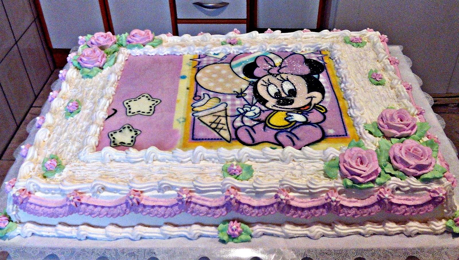 Bolo Minnie Baby