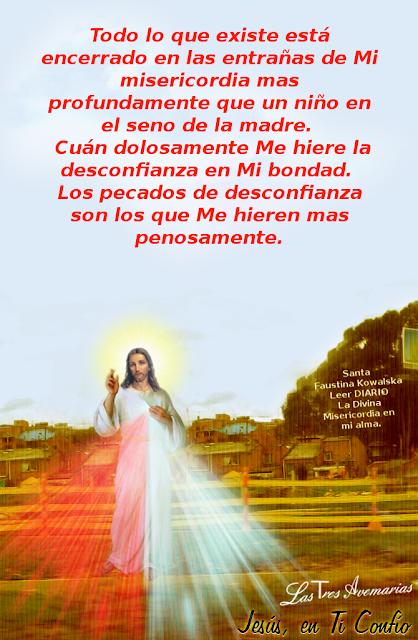 , santa faustina ruega por mi para que siempre confie