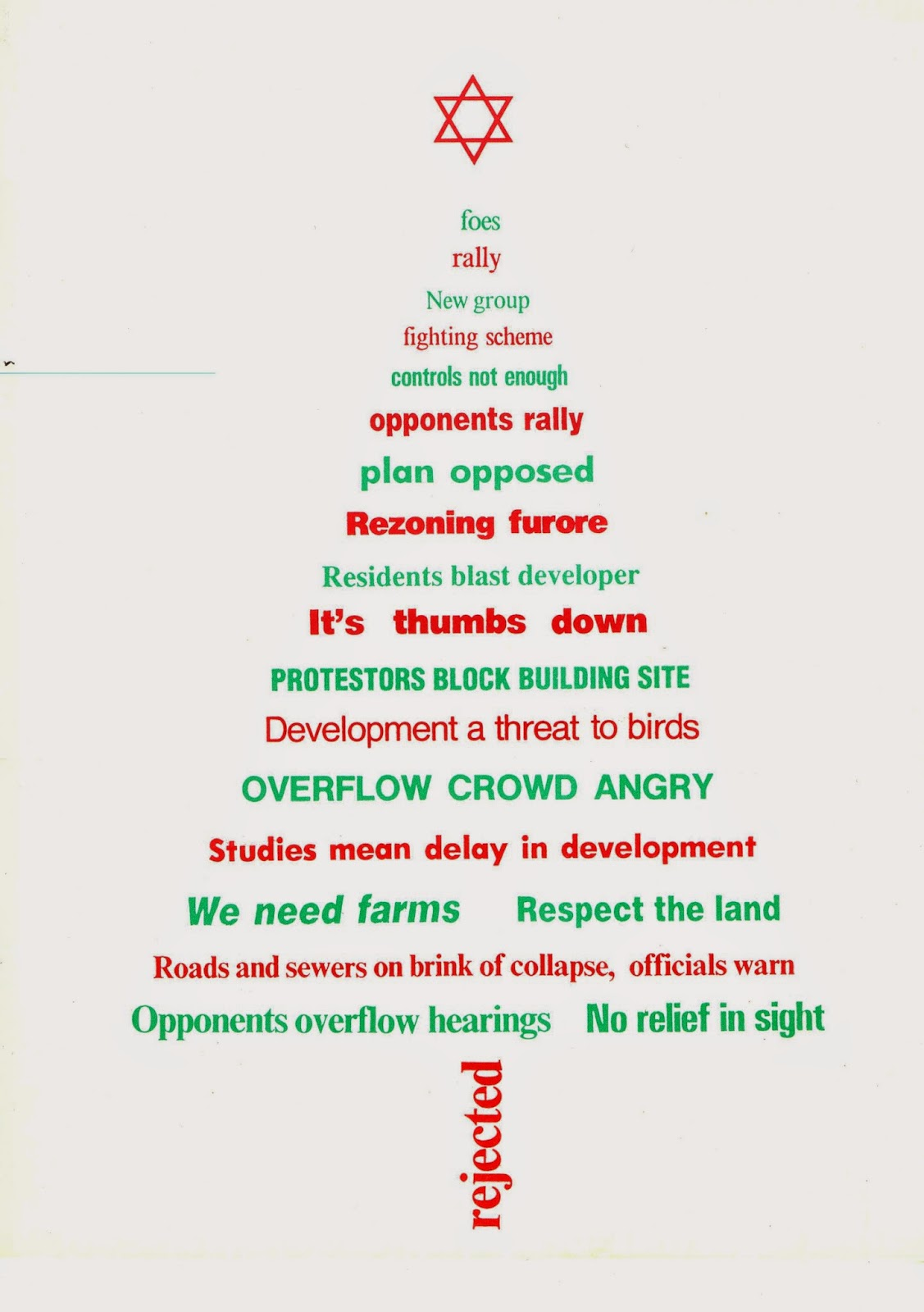 Michael gellers blog geller christmas cards over the years in the late eighties after the failure of our proposal to rezone the spetifore lands i somehow got the idea of creating a card out of the newspaper m4hsunfo