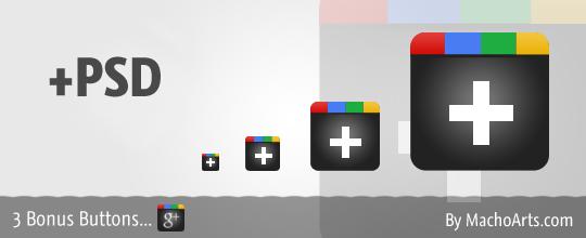 Google+ icons PSD