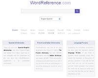 Diccionarios para aprender inglés. Wordreference.