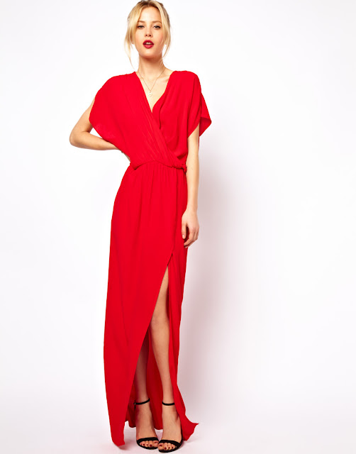 70s wrap maxi dress