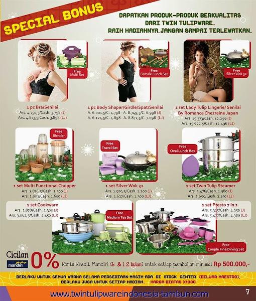 Promo Special Bonus Tulipware | November - Desember 2014